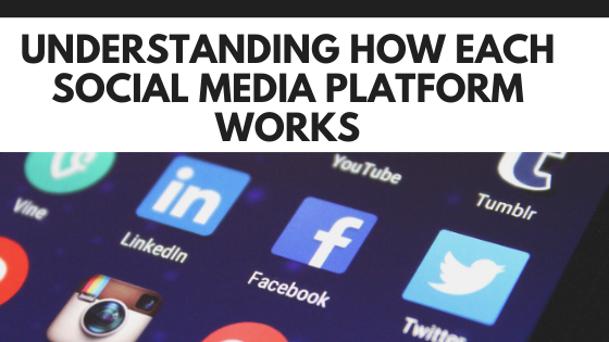 Understanding how each social media platform works